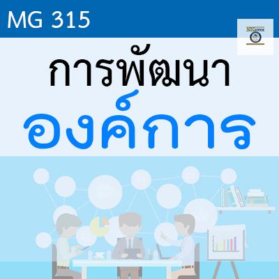 MG315 การพัฒนาองค์การ 2/2562