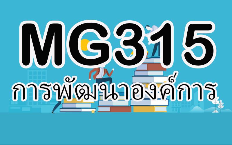 MG315 การพัฒนาองค์การ 2/63