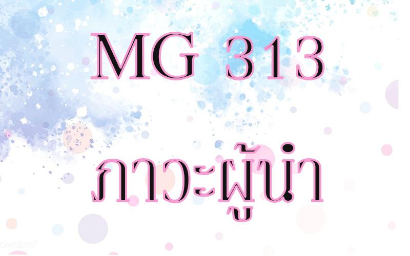 MG 313 ภาวะผู้นำ