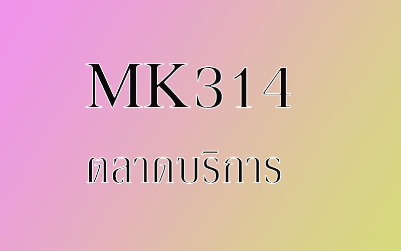 MK314 ตลาดบริการ