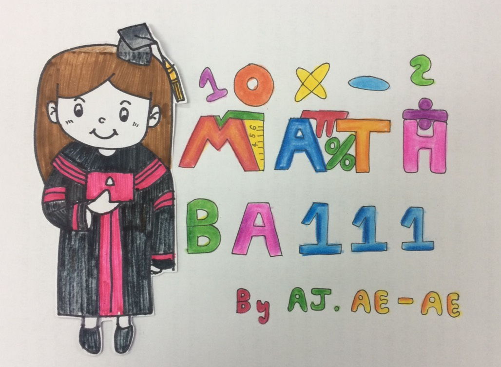 BA 111 คณิตศาสตร์ธุรกิจ 1/2562